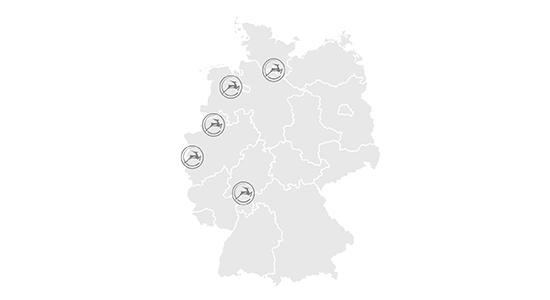 Gazelle Testcenter Standorte